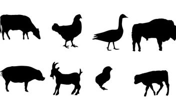 Farm animals Vector graphics - Free vector #181323