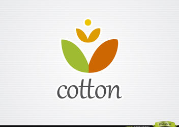 Cotton fabrics logo - Free vector #181403