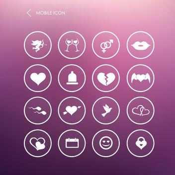 16 Minimal Valentine Icons - Free vector #181623
