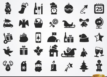 35 Flat Christmas icons - Free vector #181663