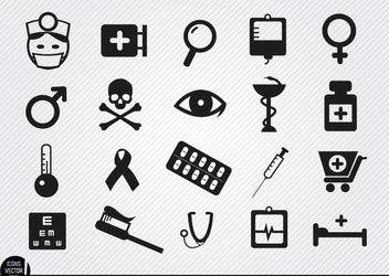 20 Medicine symbol icons - Kostenloses vector #181683