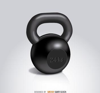 Kettlebell workout 24 kg - Free vector #181973
