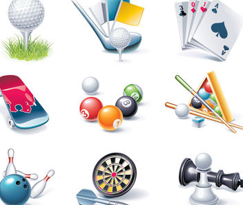 Realistic Sport & Entertainment Element Set - vector #182043 gratis