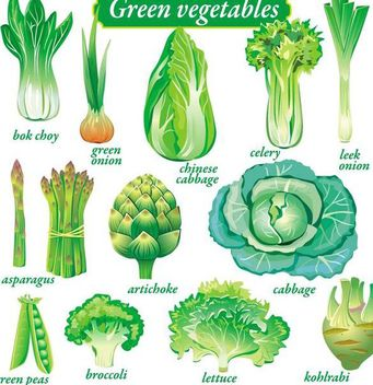 Green Vegetable Pack - Free vector #182053