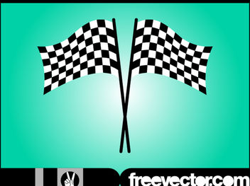 Black & White Wavy Racing Flag - vector #182143 gratis