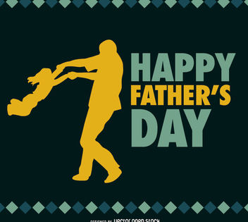 Father and Daughter Father's day vector - бесплатный vector #182183