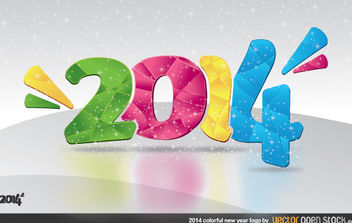 2014 Colorful New Year Logo - vector gratuit #182243
