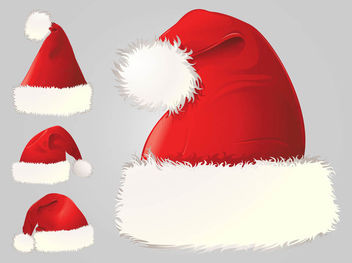 Detailed Santa Claus Hat Pack - бесплатный vector #182463