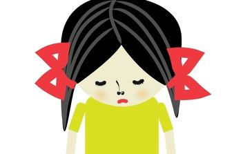Sad girl - Free vector #182493