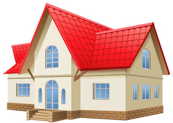 3D Realistic 2 Stored House - Free vector #182513