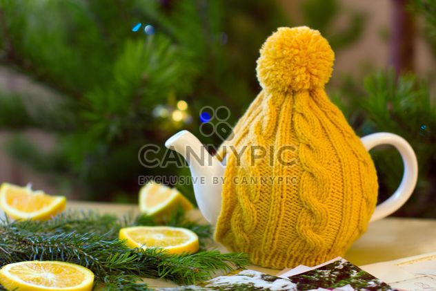 Teapot in knitted hat - Free image #182633