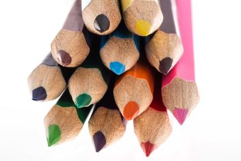 colored pencils on white - image gratuit #182903