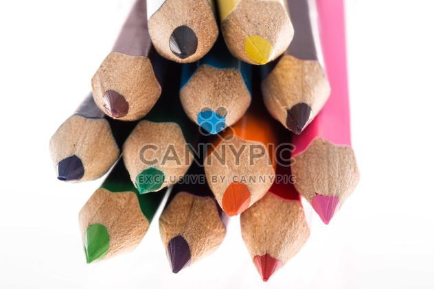 colored pencils on white - Free image #182903