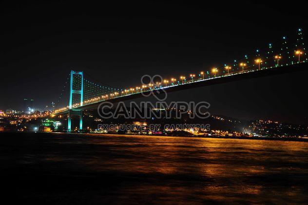 Puente del Bósforo en la noche - image #183043 gratis