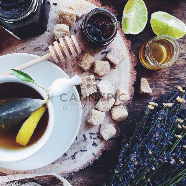 Чай с лимон и мед - бесплатный image #183233