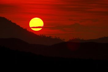 Sunset in mountains - Free image #183483