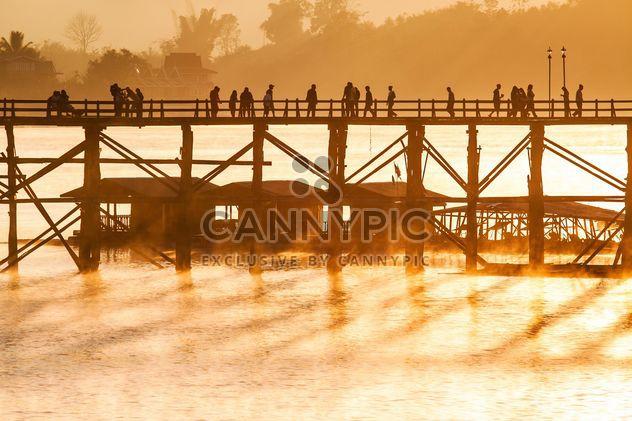 People walking on bridge - Free image #183523