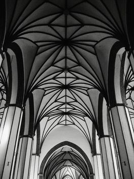 #cathedral #gothic #architecture #lines #geometry #blackandwhite #bnw #monochrome - бесплатный image #183643