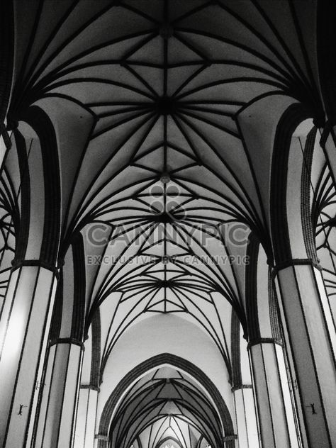 #cathedral #gothic #architecture #lines #geometry #blackandwhite #bnw #monochrome - image #183643 gratis