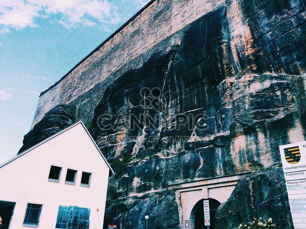 White house near rock, Germany - Free image #184133