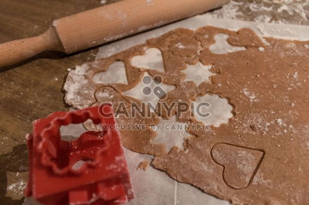 Gingerbread cookie in process - Free image #184453