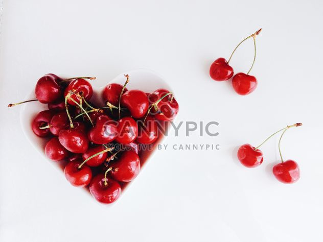 Cherries in a plate - Free image #185683
