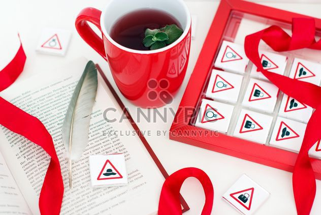 Decorated cup of tea - Free image #186023