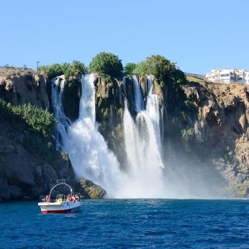 Famous waterfall in Antalya - image gratuit #186283