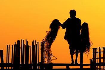 Fisherman silhouette - image gratuit #186403