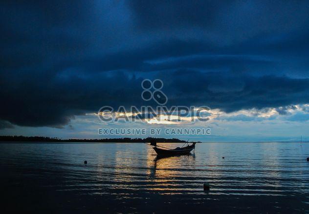 Boat overcast sea - Free image #186443