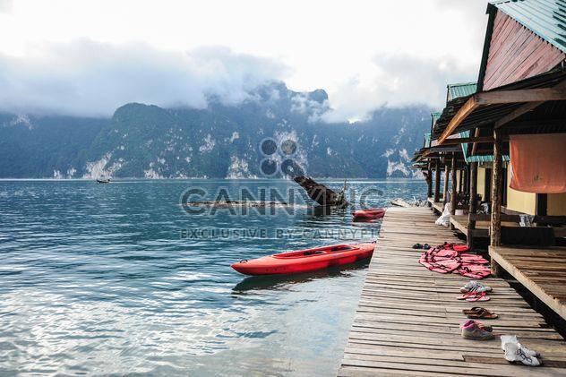 Kayaks near boat station - Free image #186493