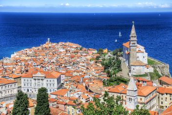 Piran, Adriatic Sea, Slovenia bird's-eye view, - Kostenloses image #186813