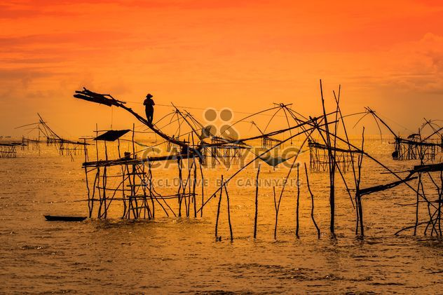 Fisherman with traditional tools - Free image #186993