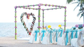 Decorations for wedding on the beach - Free image #187003