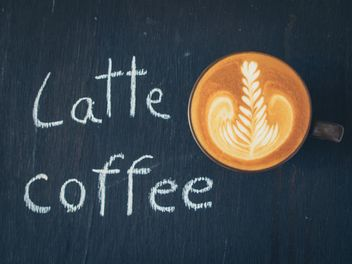 Cup of latte art - Free image #187033