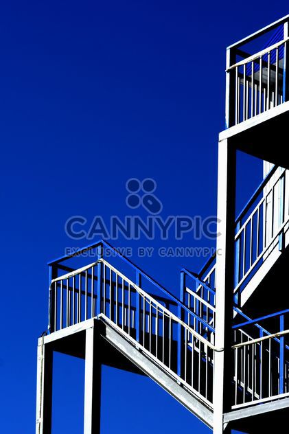 Stairs against a blue sky - Free image #187693