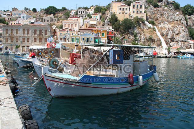 Boote auf der Insel Symi, Griechenland - Kostenloses image #187853