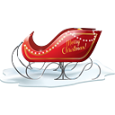 Santa Sleigh - icon gratuit #188793