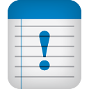 Notes Warning - icon gratuit #189153