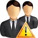 Business Users Warning - icon gratuit #190833