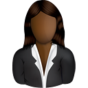 Black Female Business User - Free icon #191003