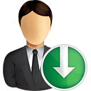 Business User Down - icon gratuit #191013