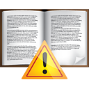 Book Warning - icon gratuit #191033