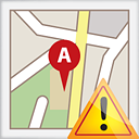 Map Warning - icon gratuit #191153