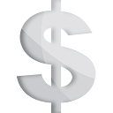 Dollar Silver - icon gratuit #191203