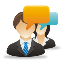 Businessman Woman Comments - Free icon #192033
