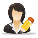 Edit Businesswoman - Free icon #192053