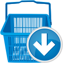 Shopping Cart Down - Kostenloses icon #192173