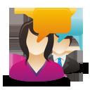 negocios mujer hombre comentarios de los usuarios - icon #193063 gratis