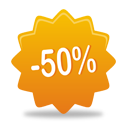 50 Percent Off - Free icon #193083